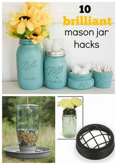 10 Mason Jar hacks you may not have heard of...did you know you can use a mason jar to turn your blender into a magic bullet? Or that you can use a jar as a makeshift iPhone speaker? Plenty more brilliant ideas! #masonjar #ad