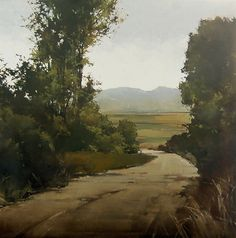 """Dusty Bend"" Joseph Alleman. Oil on canvas. 42"" x 42"""