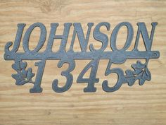 House Numbers / Metal House Numbers /Address / by MadMetalWorks