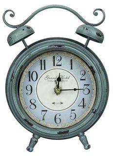 Shop for Cooper Classics Mica Table Clock, and other Accessories at Union Furniture in Union,Missouri. Aged Turquoise Finish with Black Undertones; Under Glass. Radio Alarm Clock, Digital Alarm Clock, Green Clocks, Vintage Alarm Clocks, Tabletop Clocks, Desk Clock, Telling Time, Rustic Farmhouse Decor, Rustic Decor