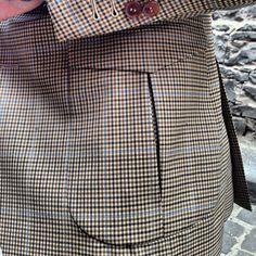 Pleated flap patch pocket in 9oz Huddersfield Aimbry cloth.  #oscarhunt #menswear #mnswr #mensstyle #sartorial