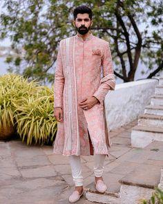 Sherwani For Men Wedding, Wedding Dresses Men Indian, Sherwani Groom, Wedding Dress Men, Wedding Outfits For Men, Punjabi Wedding, Indian Weddings, Wedding Couples, Engagement Dress For Men
