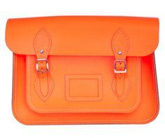 The Cambridge Satchel Company Fluorescent Satchel (Orange) £110.00