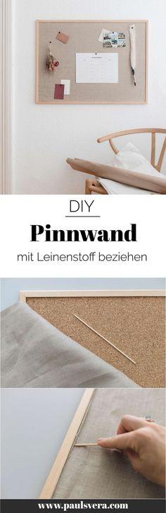 DIY Pinnwand mit Leinen   paulsvera