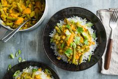 Curry Pasta, Vegas, Vegan Curry, Guacamole Recipe, Cooking Recipes, Healthy Recipes, Orzo, Food Cravings, Eating Plans