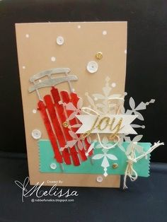 Stampin' Up! Watercolor Winter Simply Created by Melissa Davies @ rubberfunatics
