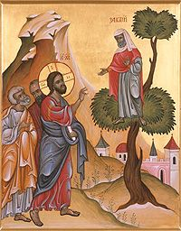 How to Respond Like Zacchaeus When Salvation Comes to Your House:  Homily for the 15th Sunday of Luke in the Orthodox Church