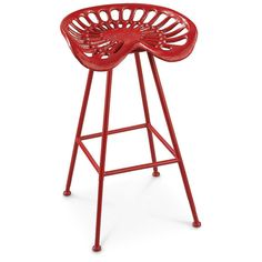 Red Iron Metal Tractor Seat Bar Stool Barstool Rustic Farmhouse Farm Country  #Country $154.00