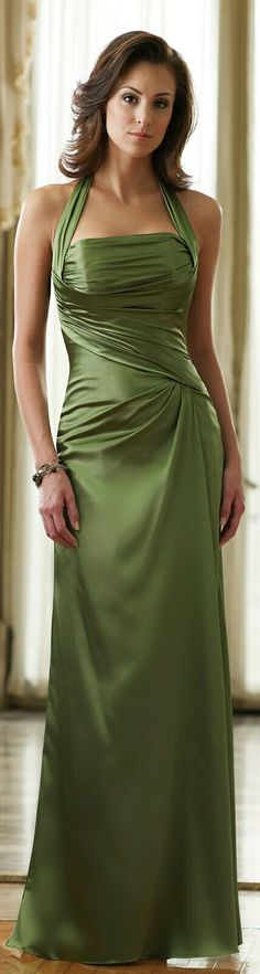 The Usual Olive Evening Gown x designeroutfits.com