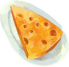 'Breakfast Cheese Pattern' Sticker by jianart Pattern Design, Cheese, Illustrations, Stickers, Breakfast, Morning Coffee, Illustration, Decals, Illustrators