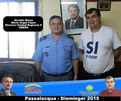 Miércoles 20/May. Hoy con el Jefe de Prensa Nestor Lopez Gianera, visitamos el Servicio Penitenciario Unidad Penal 2 de Oberá, para realizar gestiones. Gracias por la cordialidad con la que fuimos atendidos. #Passalacqua2015 #Herrera2015 #Dieminger2015 #SiSePuede #Obera #Politica