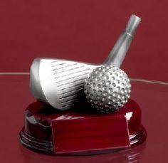 """4-1/2"""" Silver Wedge Golf Trophy"""
