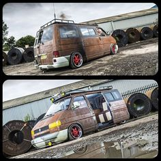 Lowdown ratty t4 photos courtesy of @athompsonsphoto #vw #t4 #vwt4…