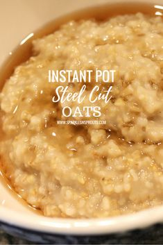 Steel Cut Oats in under 30 minutes and all made in the Instant Pot.  Yes... breakfast in the Instant Pot... can it get any better?? . #instantpot #oatmeal #steelcut #steelcutoatmeal #breakfast #sparklesnsprouts