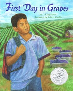 First day of school jitters? Imagine starting a new school every September because your family moves up and down CA for work picking fruits and vegetables. Great book to talk about bullying, identity, self-confidence