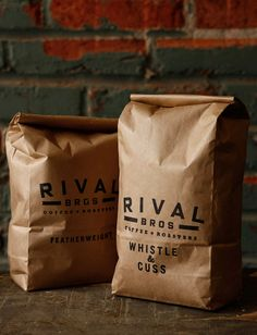 Rival Bros Coffee packaging packaging branding
