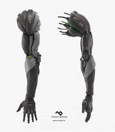 Prosthetic arm concept, Ryo Yambe on ArtStation at https://www.artstation.com/artwork/rOE1G