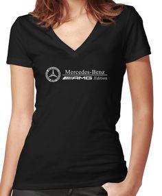 b15d83d4b Mercedes Women's Fitted V-Neck T-Shirt V Neck T Shirt, Shirt Dress