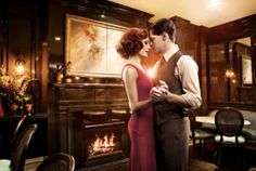 Bonnie & Clyde's Laura Osnes & Jeremy Jordan Show Their Dark Side in Time Out New York's Bar Issue Bonnie And Clyde Musical, Bonnie And Clyde Photos, Bonnie Clyde, Theatre Geek, Musical Theatre, Laura Osnes, Cool Bars, Costume, Kinds Of Music