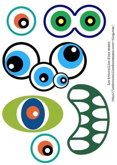 cheznounoucricri - Page 37 Halloween Crafts For Kids, Halloween Fun, Fun Crafts, Halloween Decorations, Coloring Books, Coloring Pages, Bricolage Halloween, Eye Drawing Tutorials, Photos Booth