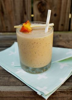Grilled Peach Smoothie, serves one  One peach, grilled  2 cups greek frozen yogurt  1/3 cup milk or almond milk  2 tablespoon honey