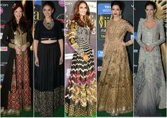 #IIFA2014 #BestDressed #IndianEthnicwear  From Left to Right  #KalkiKoechlin #AditiRao #VaaniKapoor #DeepikaPadukone #KalkiKoechlin