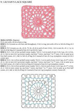 Lilyan's Lace square  #crochet #motif
