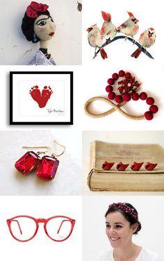 red, garnet y cardinal by Paloma O on Etsy--Pinned with TreasuryPin.com