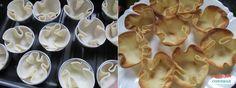 receita Cestinhas crocantes recheadas massa de pastel