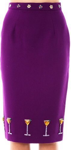 HOUSE OF HOLLAND Cocktail-embellished Pencil Skirt - Lyst