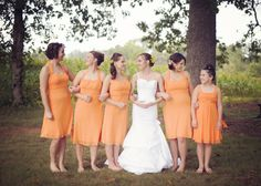 orange wedding