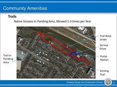 Building Design and Construction Division 16 Community Amenities Trails Native Grasses in Ponding Area, Mowed 1-3 times pe...