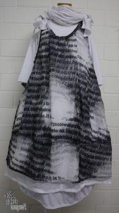 """www.modegalerie-bongardt.de - rundholz mode, rundholz black label, rundholz dip Rundholz black label Sommer 2016 ballonige Trägertunika/Kleid double """"print"""" black p1 3850909-S16"""
