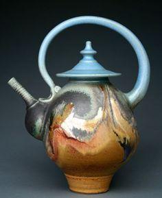 Oceanic Teapot   Earthsea pottery Flickr - Photo Sharing!
