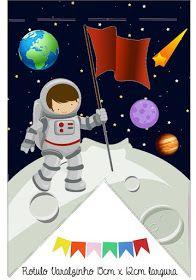 Fábrica de Sonhos: Caixinhas Astronauta - 1 Joshua 5, Space Party, Class Decoration, Sons Birthday, Sistema Solar, Outer Space, Party Printables, Origami, Diy And Crafts