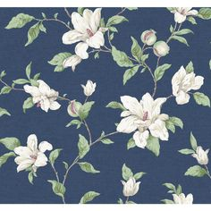 Shop for Magnolia Wallpaper wall coverings at Steve's Blinds & Wallpaper. Browse a wide selection of wallpaper, borders and wall murals at discounted prices. Wallpaper For Sale, Wallpaper Stores, Wallpaper Panels, Love Wallpaper, Classic Wallpaper, Wallpaper Decor, Iphone Wallpaper, Magnolia Wallpaper, Blue Floral Wallpaper