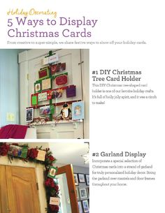#ClippedOnIssuu from Wayfair @ Home Magazine Holidays 2014 Issue.   Christmas card hanger so you can see the cards