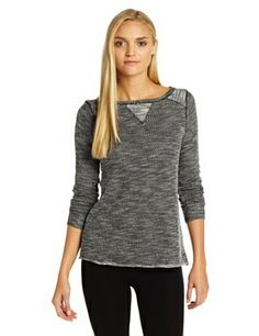 Calvin Klein Performance Women's Textured French Terry Raglan Sleeve Pullover