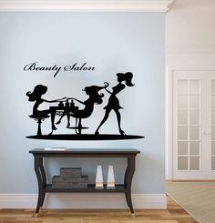 Graceful Girl Woman Silhouette Housewares Wall Vinyl Decal Art Modern Design Murals Interior Beauty Hair Spa Salon Decor Sticker SV3861
