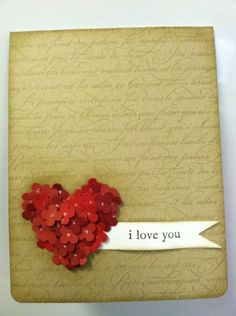 Simple and decent card for valentine...
