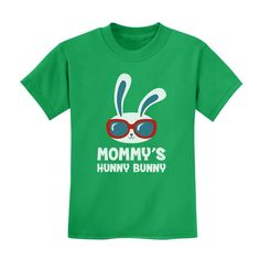 Mommy's Hunny Bunny Cute Easter Bunny Cool Kids T-Shirt Gift Idea Cool Kids T Shirts, Clothing Consignment Shops, Hunny Bunny, Cute Easter Bunny, Easter Projects, Altering Clothes, Clothing Labels, Cricut Creations, Cute Kids