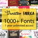 1 Year Unlimited Access to 1300+ Premium Fonts - only $27!