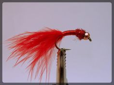 Fly Fishing Lure Wire Bloodworm Red