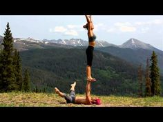Acro Yoga is a really fun activity to try out with your friends or sweetie. It's also really fun to watch! Check out these amazing Acro Yoga videos. Yoga For Two, My Yoga, Outdoor Yoga, Yoga Videos, Workout Videos, Yoga Sequences, Yoga Poses, Yoga Inspiration, Fitness Inspiration
