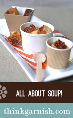 Soup for two... Great to drop off for lunch for a friend or loved one who just had a baby or needs a pick me up. This site has a lot of great packaging ideas.