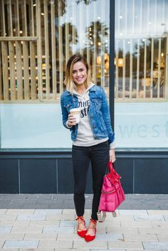 How to Mix Different colored Denim   Denim look   Denim wear   Uptown with Elly Brown