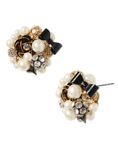 Women's Apparel | Boutiques | Pearl & Flower Cluster Stud Earrings | Lord and Taylor