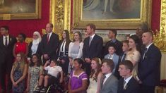 The Duke of Cambridge and Prince Harry attend the Diana Award's inaugural Legacy Award at St James's Palace in London.