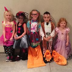 The little ones on Halloween night! #fb