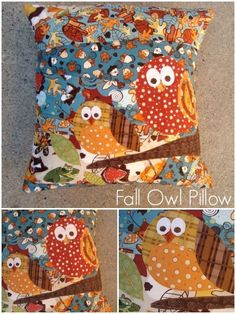 fall owl pillow tutorial | patchworkposse #fall #owl #applique #quilting this pillow is adorable!  Would be great in my pillow collection